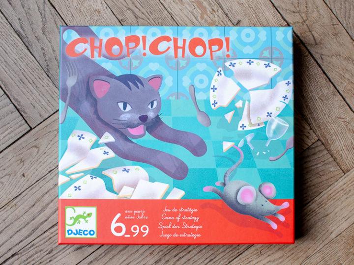 Chop ! Chop ! de Djeco : le chat et les souris