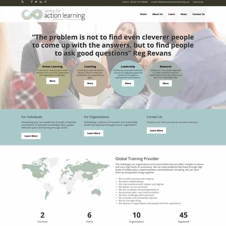 Centre For Action Learning Education Training Portal
