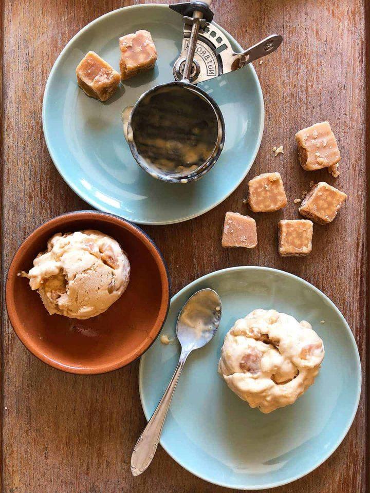 Homemade Salted Caramel Ice Cream, no churn/no machine