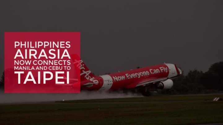 Fly to Taipei from Manila & Cebu via Philippines AirAsia