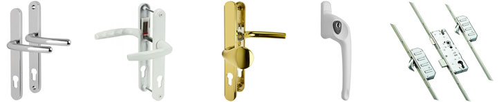 Locks and handles for uPVC doors - double glazing service in East Sussex