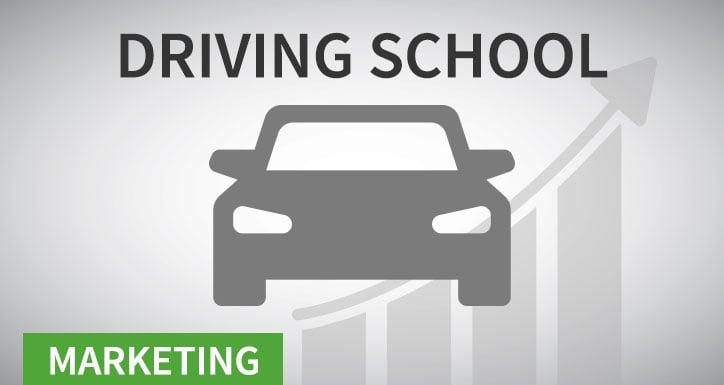 Driving school marketing icon