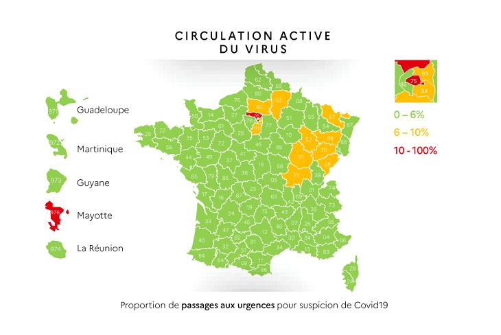 フランスロックダウン解除地図