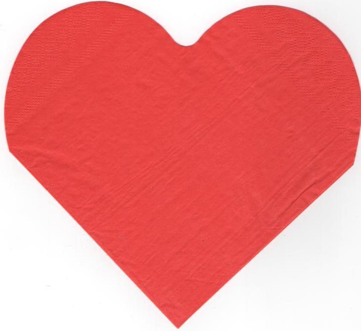 Serviette papier rouge