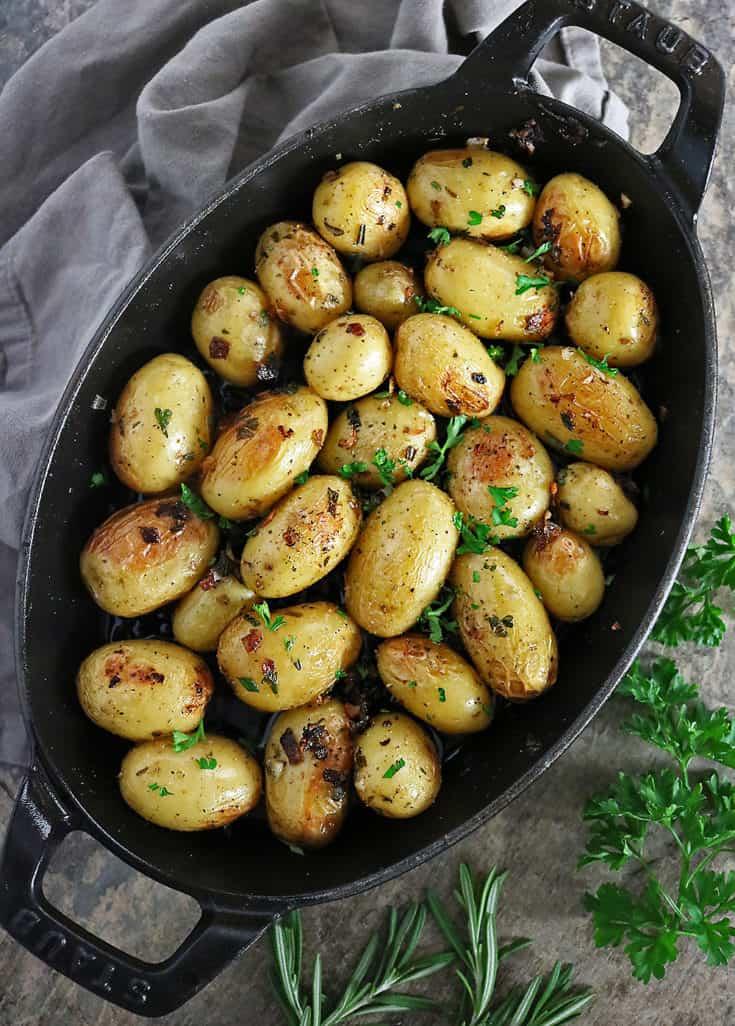 Cast-iron Garlic Herb Potatoes