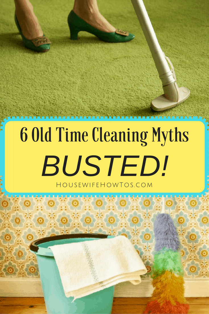 Old Time Cleaning Myths Busted - Still fall for these? They'll make your work harder and, in some cases, can permanently damage your possessions.