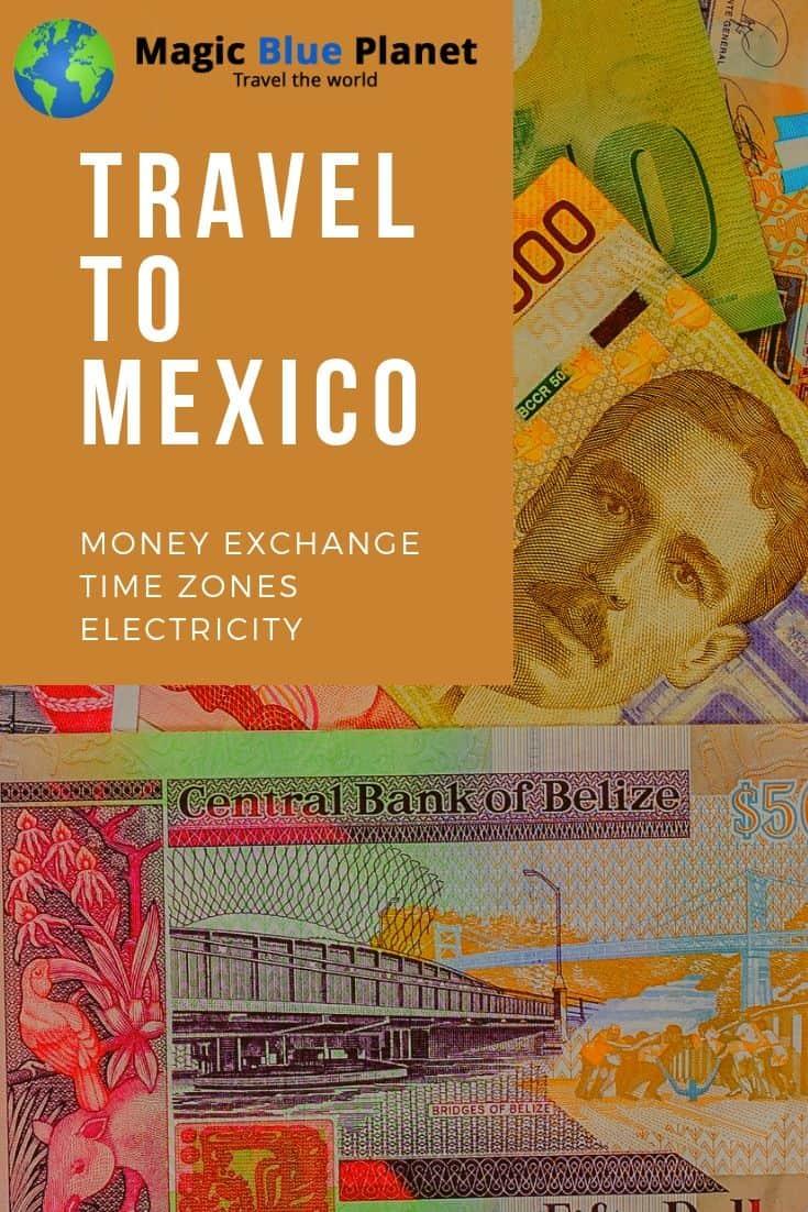 Mexico money exchange, timezonesand power outlets Pinterest 1 EN