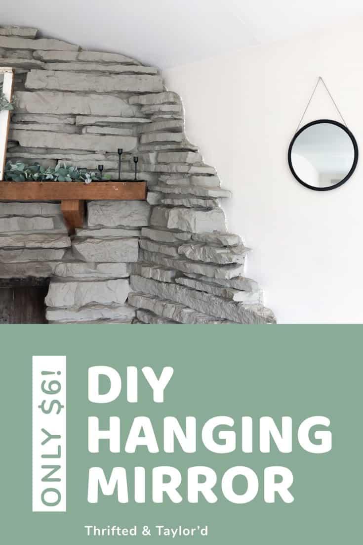 DIY Hanging Mirror | #DIY #DIYhomedecor #homedecor #dollarstore #dollarstoreDIY