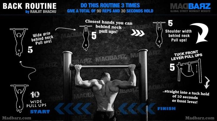 calisthenics back workout routine