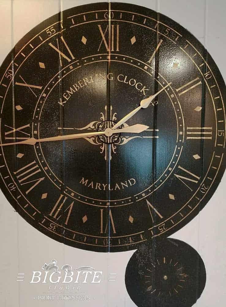 Customers' Subbmissions 02 - Paddington Clock Face, stencil on wooden board