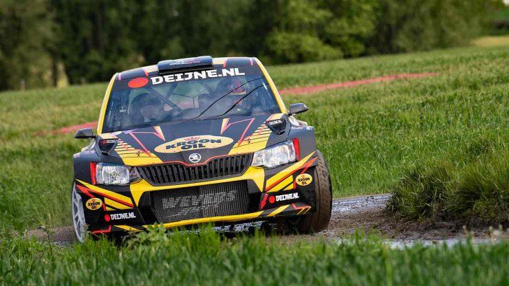 Kevin van Deijne en Hein Verschuuren - Skoda Fabia R5 - Monteberg Rally 2019