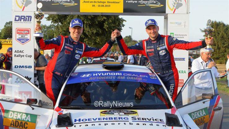 Bob de Jong & Bjorn Degandt - Hyundai i20 R5 - ADAC Rallye Sulingen 2019