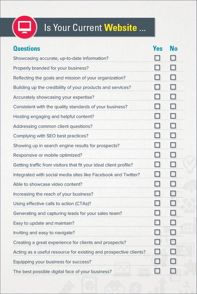 B2B Website Checklist
