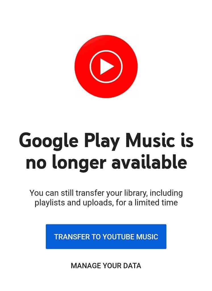 Google Play Music fim