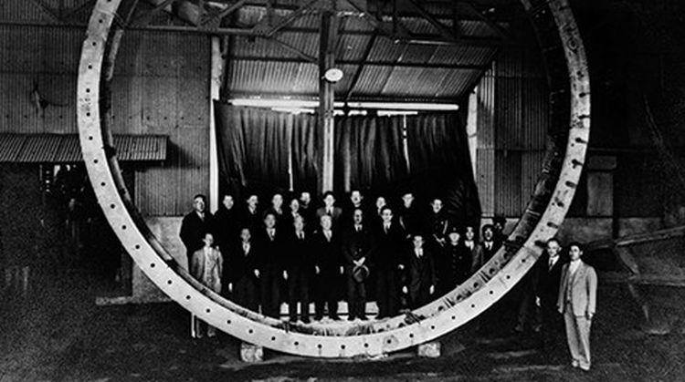 Japán első vízalatti alagútjához készült szegmensek 1 darabja