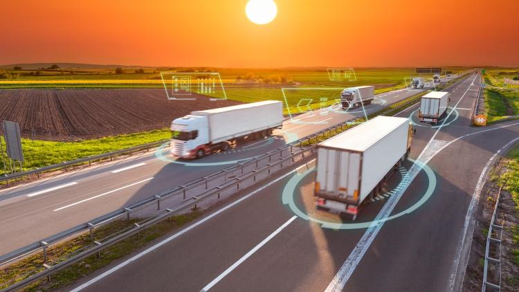 naplemente autópálya kamion tehergépkocsi