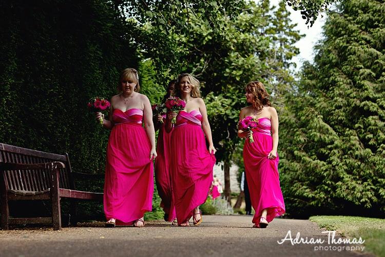 Dyffryn gardens Bridesmaids arrive