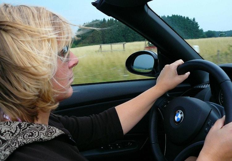 driving car nature