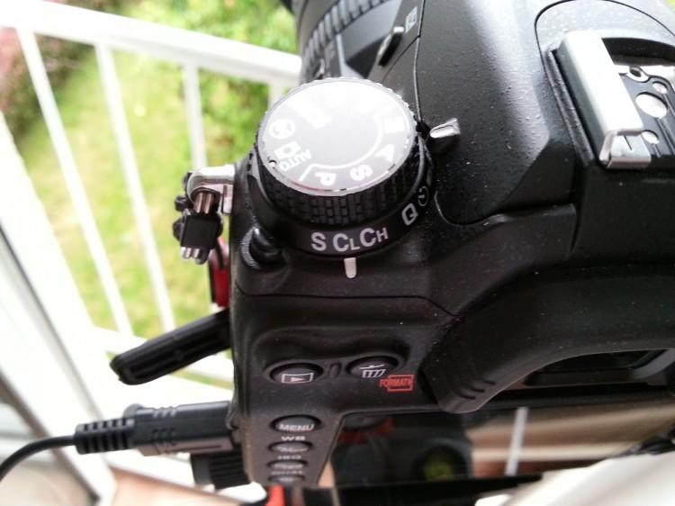 Kamera auf Serienbildfunktion einstellen