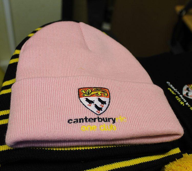 Girls pink beanie