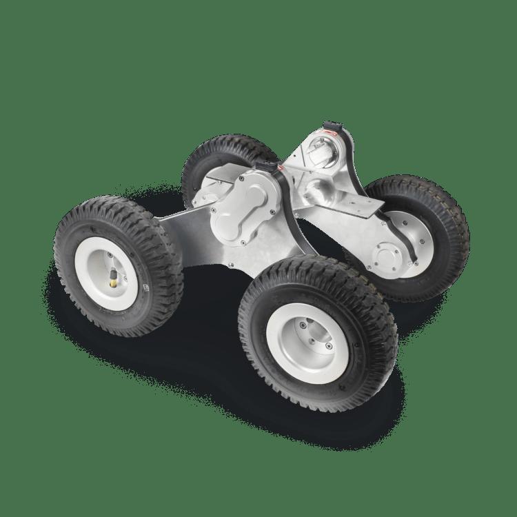 Kanalkamera Fahrwagen Lafette für Befahrungen großer Rohrdimensionen mit kleinen Fahrwagen