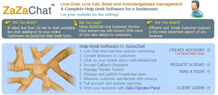 ZaZaChat Live Chat Software