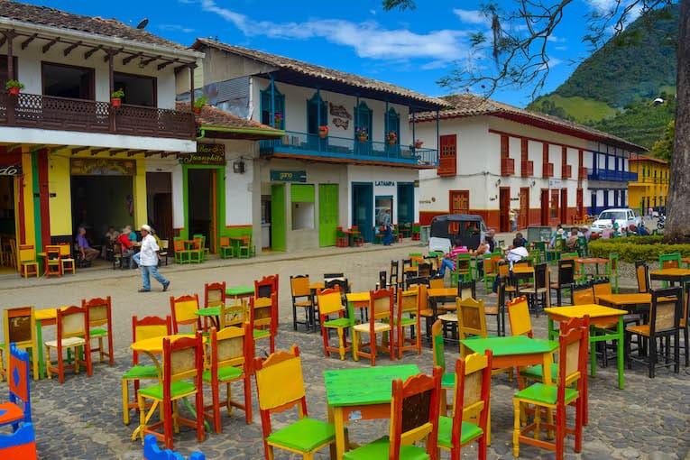 plaza central el Jardín Colombia
