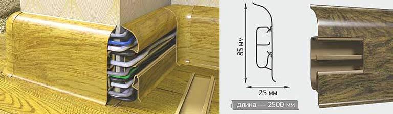 Пластиковый плинтус с каналом под провода