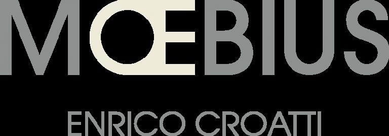 Logo Moebius Milano grigio e panna