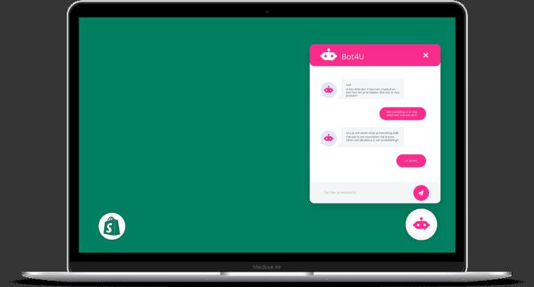 chatbot voor shopify webshop