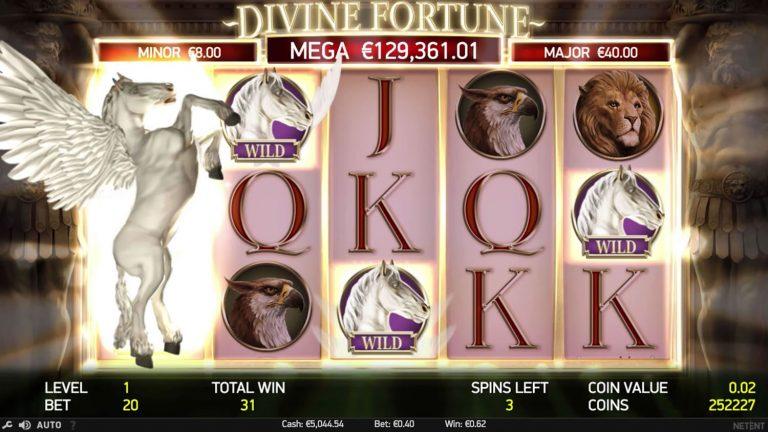 Divine Fortune expanding wild win