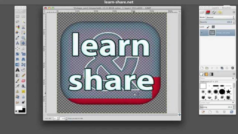 GIMP Transparent Watermark Images Photos
