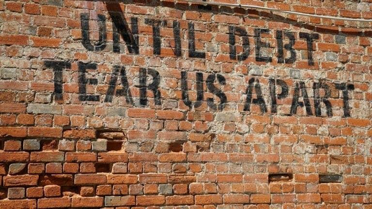 Debt street graffiti
