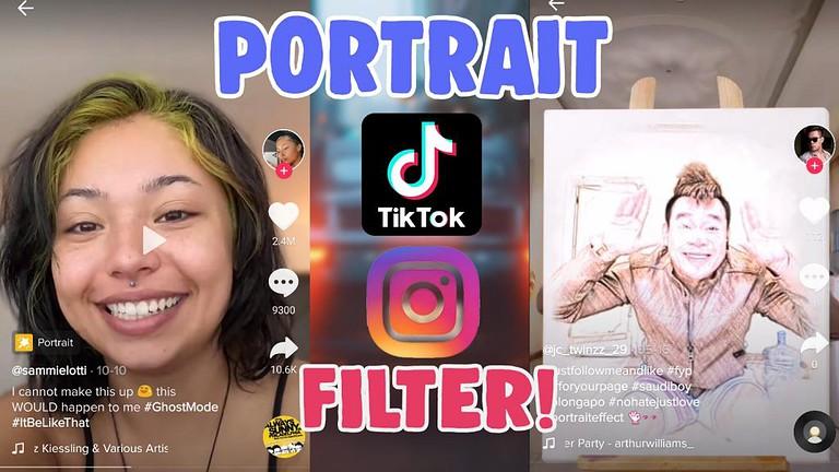 get portrait effect filter tiktok instagram