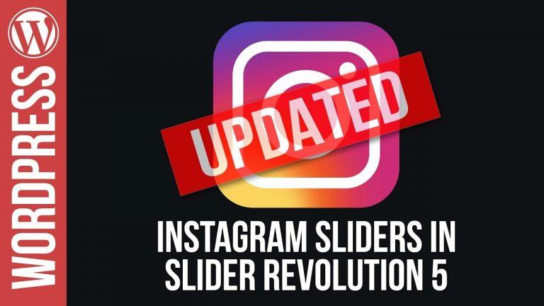 Create an Instagram Slider in Slider Revolution 5 – Updated Version