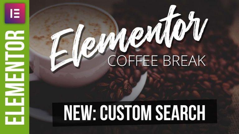 New in ELEMENTOR – Search Widget Tutorial