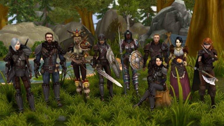 Image du jeu Ilysia, différents personnage