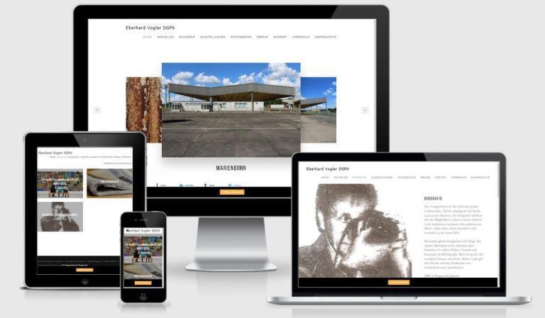 Wordpress Webdesign mit Responsiv für mobile Benutzerfreudlichkeit Fotograf Vogler