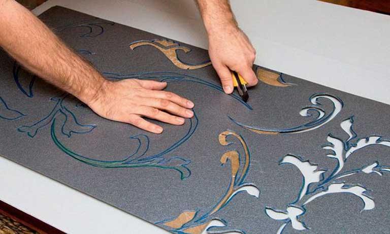 Изготовление трафарета для изготовления фактурного слоя