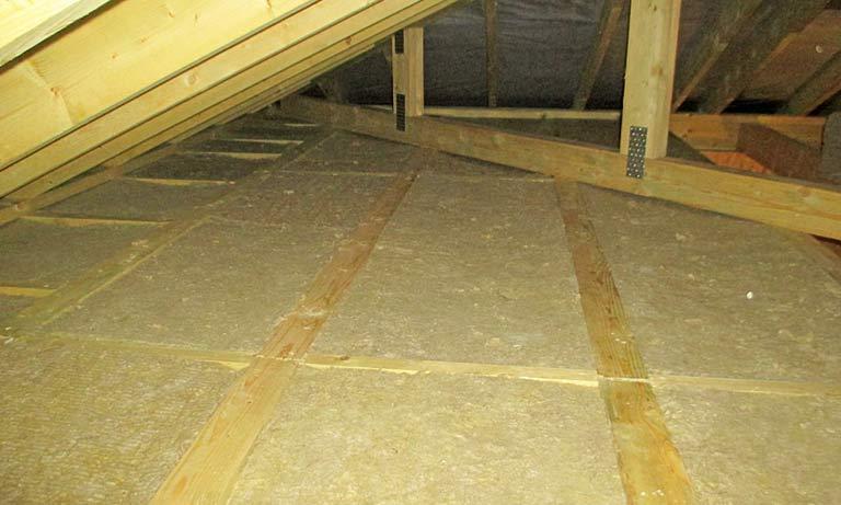 Безопасный утеплитель для деревянных перекрытий