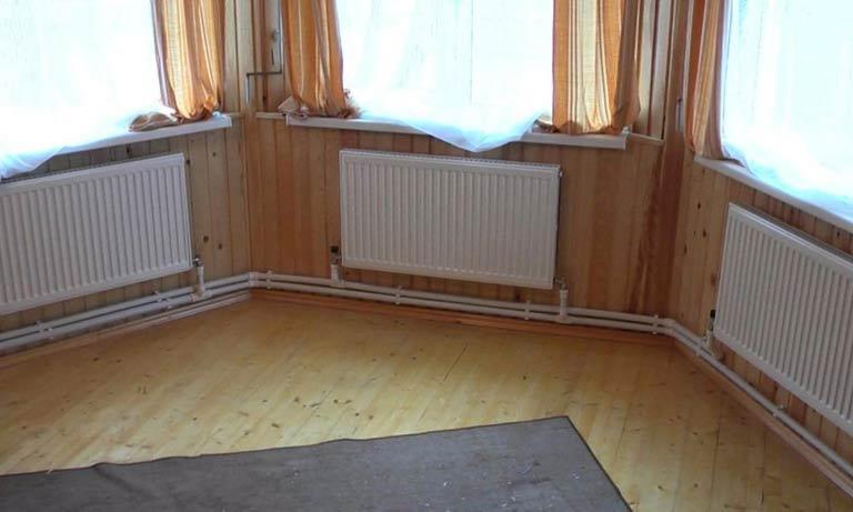Фотография двухтрубного отопления в частном доме
