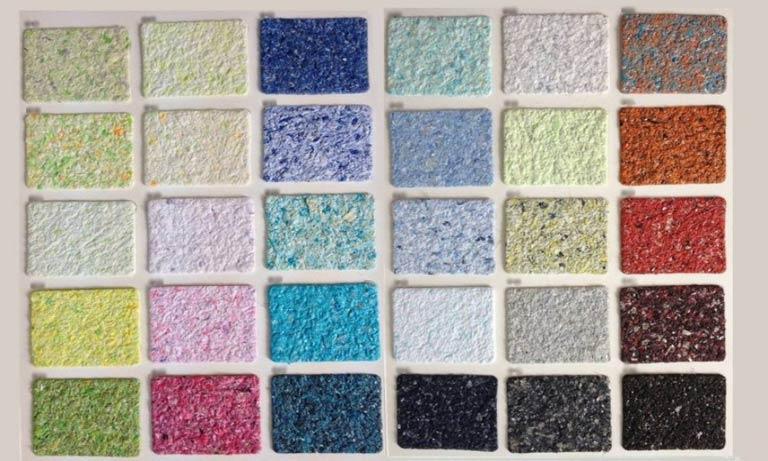 Образцы жидких обоев по цвету