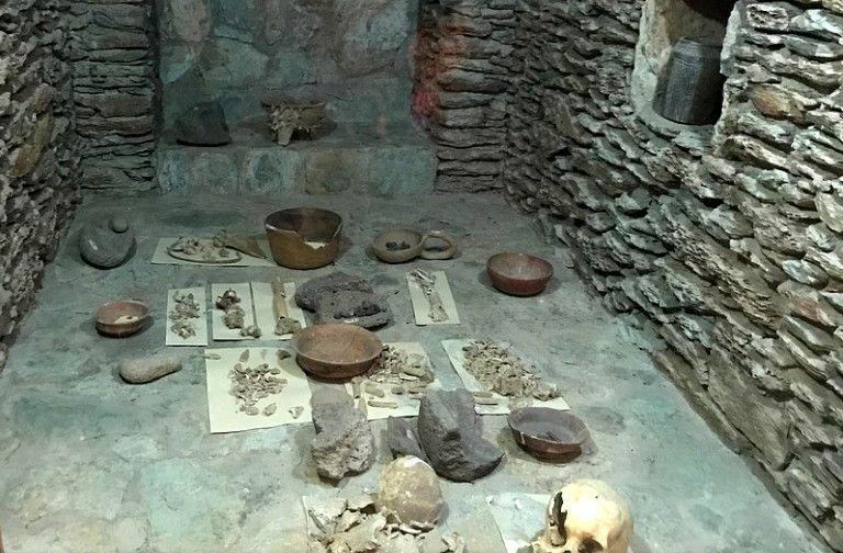 Restos maya en el Interior del Museo Roberto Wookfolk