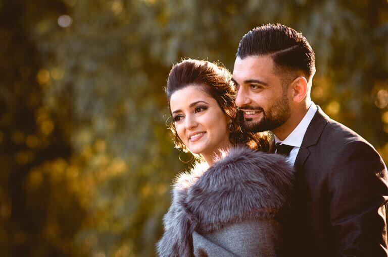 Bryllupsbillede fra Botanisk Have, taget under dagen for tyrkisk hennafest