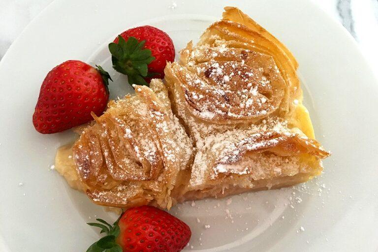 tarta pudding tarta masa filo y crema pastelera tarta masa filo tarta facil postres fáciles masa filo postre