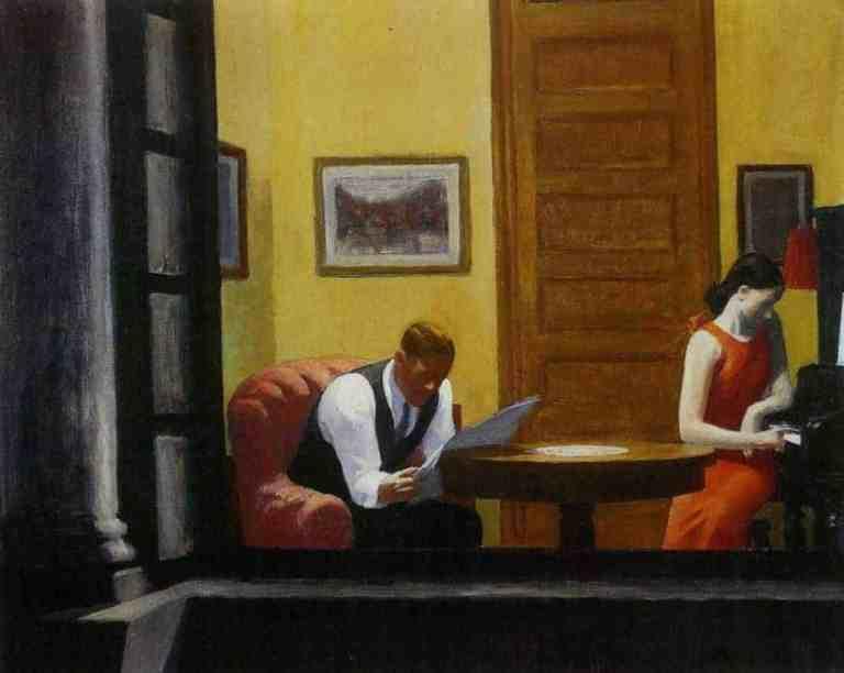 Room in New York - Edward Hopper (1932)