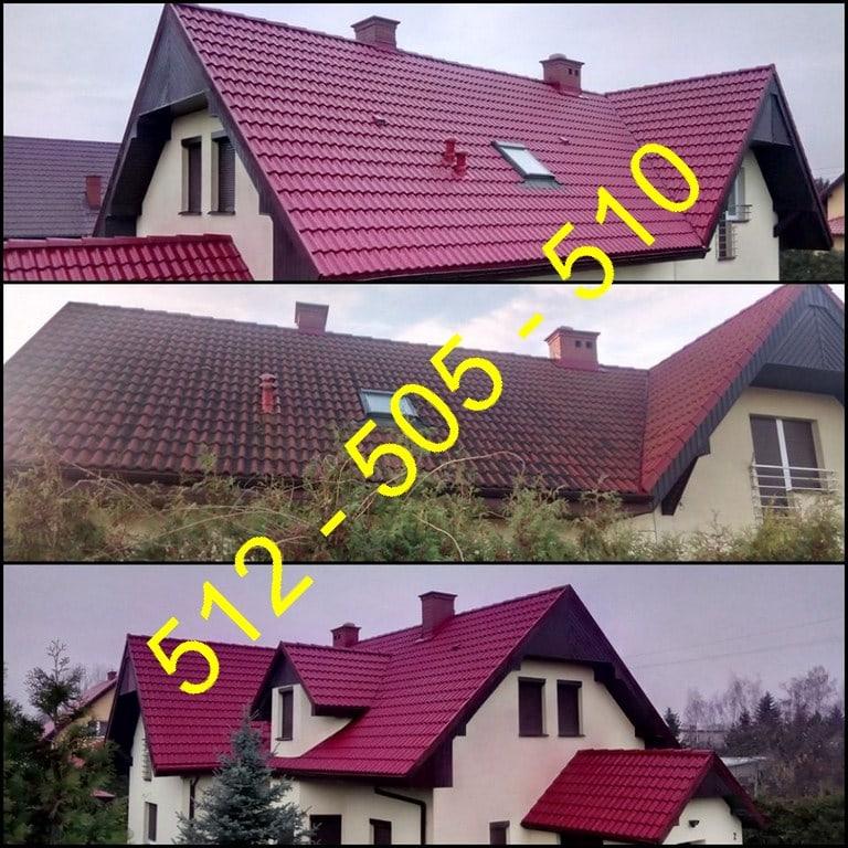 Usuwanie zabrudzeń z dachu