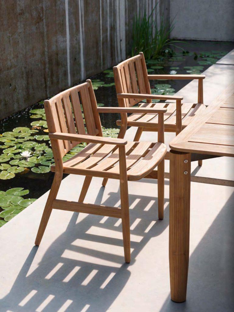 LEVANTE Armchairs + Table Teak roda meble do ogrodu