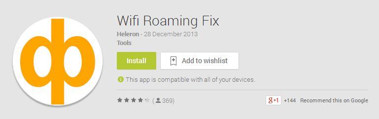 Wifi Roaming Fix App
