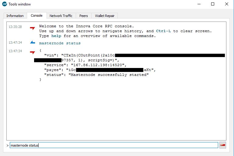 Innova Windows VPS Masternode Setup